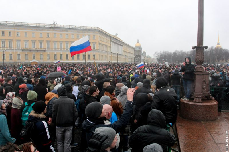 Акция против коррупции 26 марта 2017 в Петербурге. Фото: Михаил Обозов